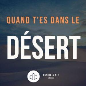 Quand t'es dans le désert – Le kit de survie au silence de Dieu